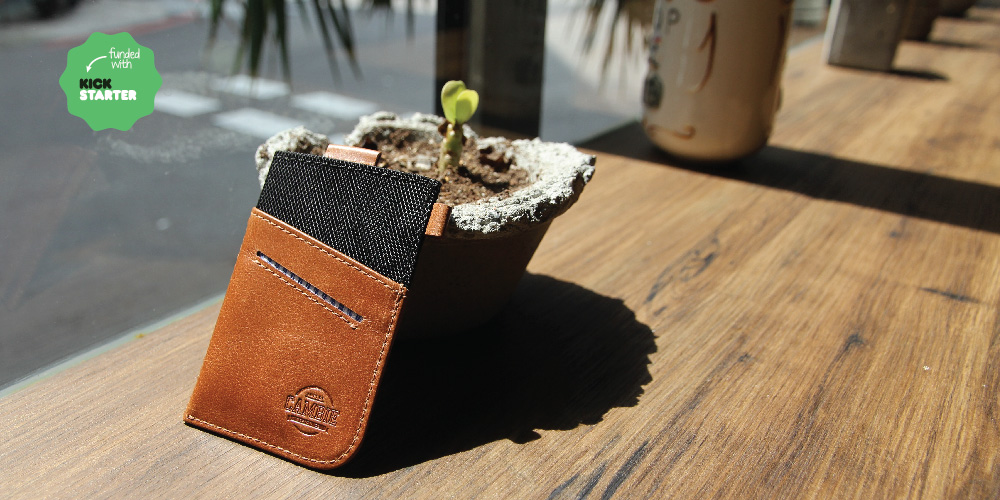 Leather slim wallet, reduce bulk, fits jeans, perfect for urban minimalist